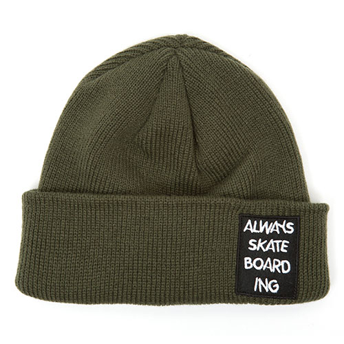 MACK BARRY맥베리_SKATEBOARD ING  HEAVY WEIGHT BEANIE_KHAKI