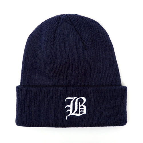MACK BARRY맥베리_OLD B LOGO HEAVY WEIGHT BEANIE_NAVY