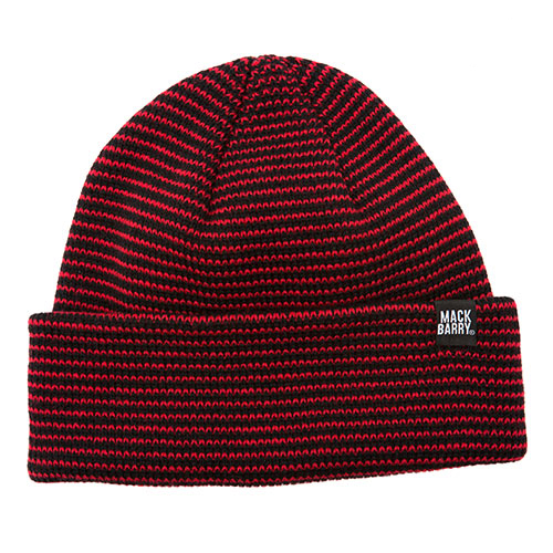 MACK BARRY맥베리_STRIPE HEAVY WEIGHT BEANIE_RED