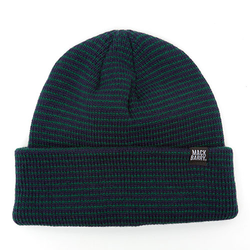 MACK BARRY맥베리_STRIPE HEAVY WEIGHT BEANIE_GREEN