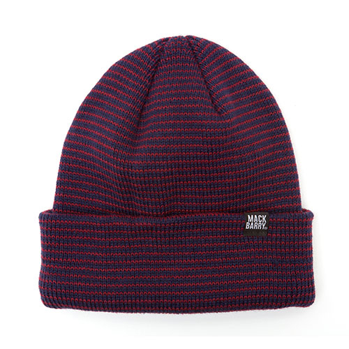 MACK BARRY맥베리_STRIPE HEAVY WEIGHT BEANIE_WINE