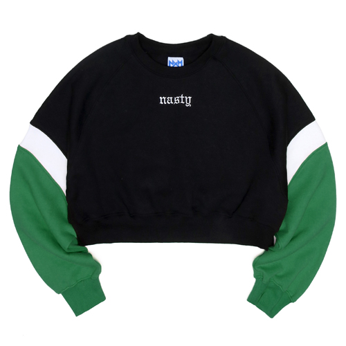 NASTY PALM네스티팜_[NYPM] CRUSH COLORATION SWEATSHIRTS (GREEN)