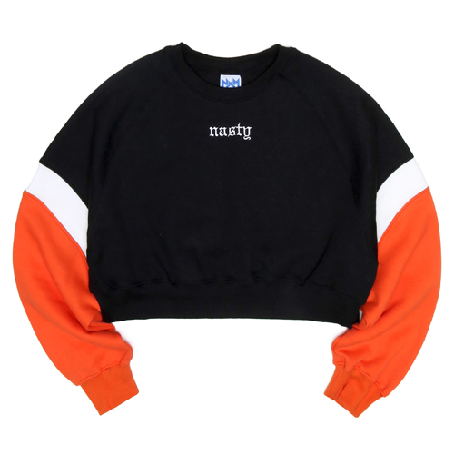 NASTY PALM네스티팜_[NYPM] CRUSH COLORATION SWEATSHIRTS (ORANGE)