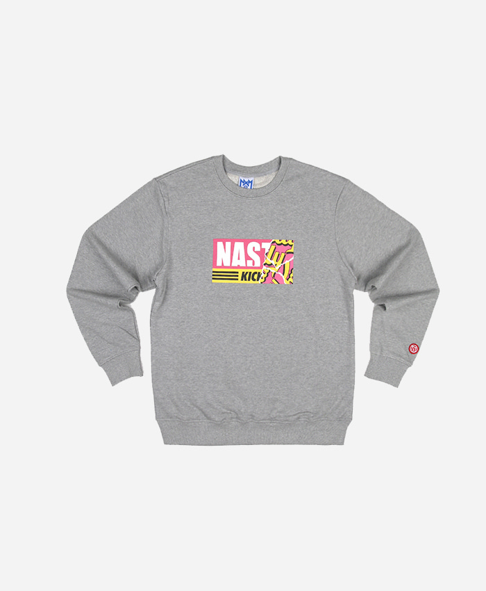 NASTY PALM네스티팜_[NYPM]NASTY KICK SWEETS SWEATSHIRTS (MEL)맨투맨티셔츠