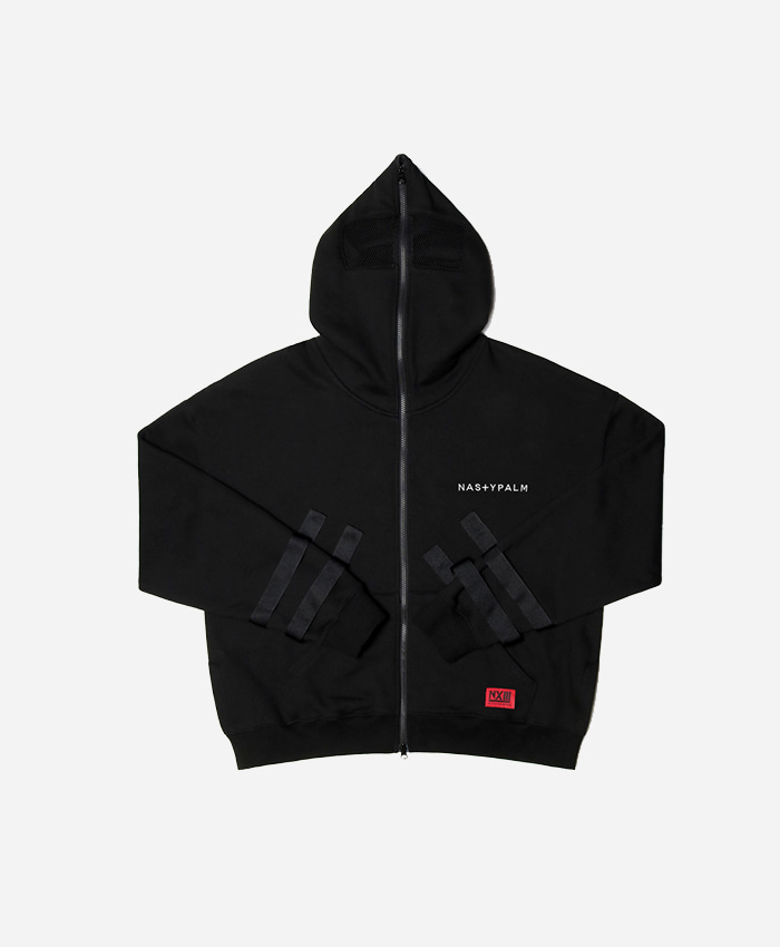 NASTYPALM네스티팜_[NYPM] SECLUSION HOOD ZIP-UP (BLK)
