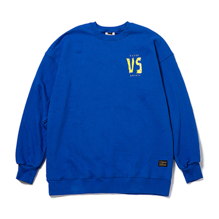스티그마GOD OVERSIZED HEAVY SWEAT CREWNECK BLUE