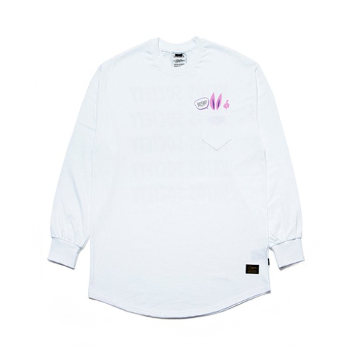 스티그마RABBIT GANG LAYERED LONG SLEEVES T-SHIRTS WHITE
