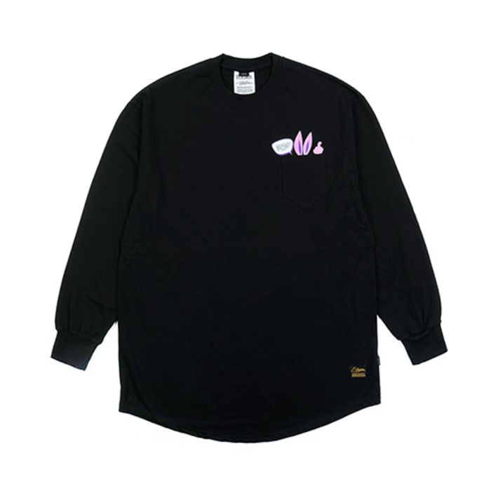 스티그마RABBIT GANG LAYERED LONG SLEEVES T-SHIRTS BLACK