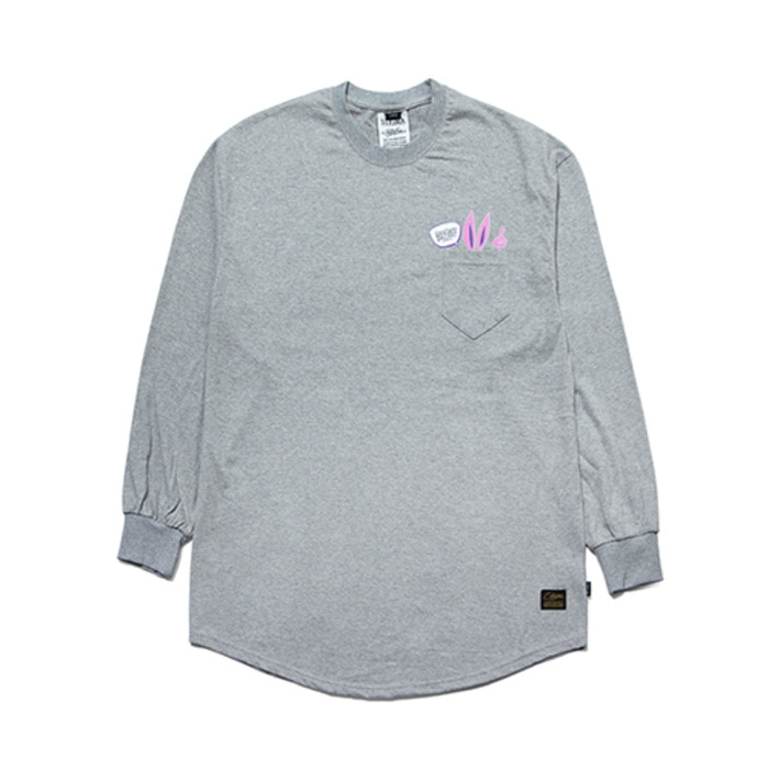 스티그마RABBIT GANG LAYERED LONG SLEEVES T-SHIRTS GREY