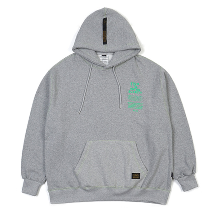 스티그마STITCH OVERSIZED HEAVY SWEAT HOODIE GREY