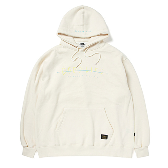 스티그마GOOD LIFE OVERSIZED HEAVY SWEAT HOODIE BEIGE