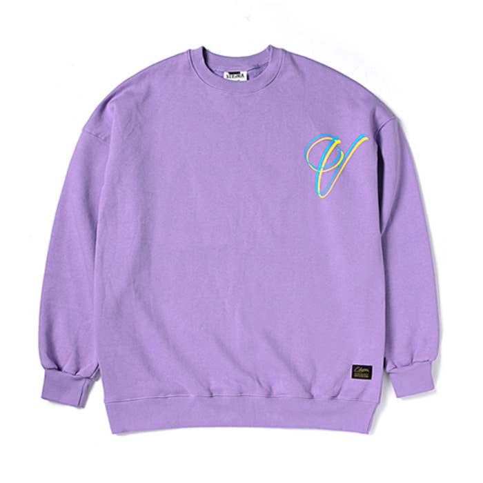 스티그마V OVERSIZED HEAVY SWEAT CREWNECK LIGHT PURPLE