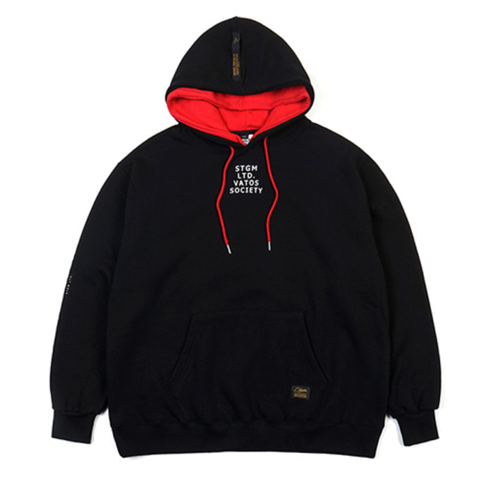 스티그마DOUBLE OVERSIZED HEAVY SWEAT HOODIE BLACK