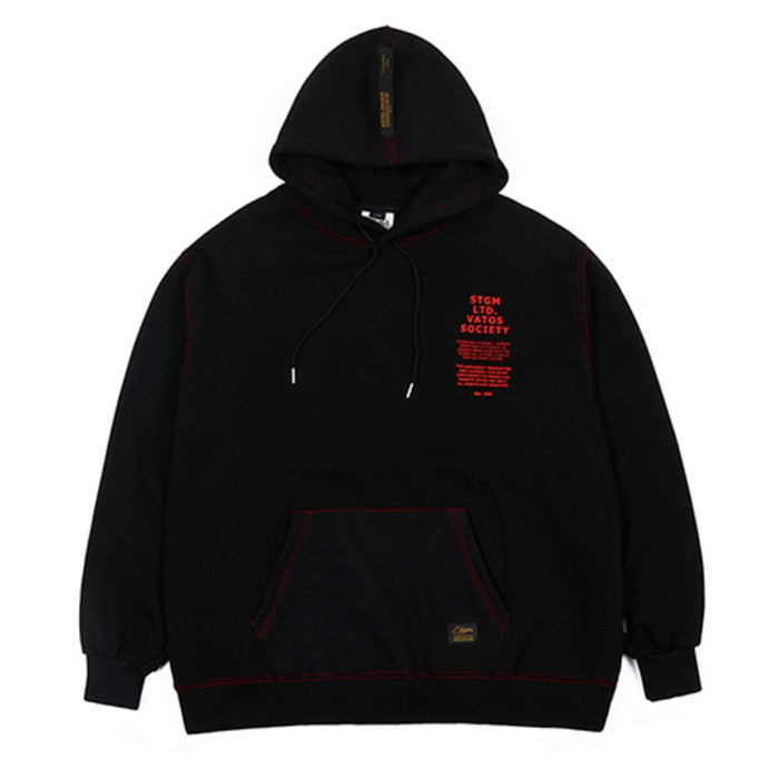 스티그마STITCH OVERSIZED HEAVY SWEAT HOODIE BLACK