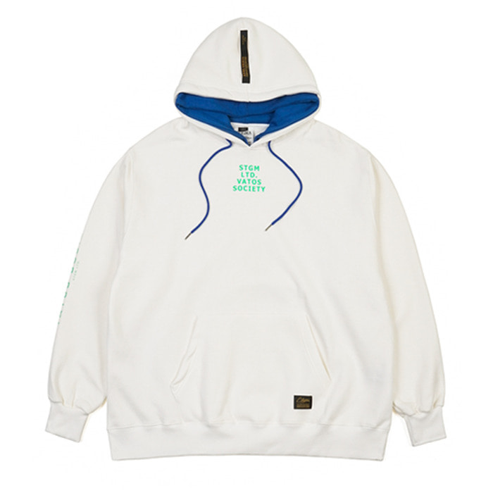 스티그마DOUBLE OVERSIZED HEAVY SWEAT HOODIE CREAM