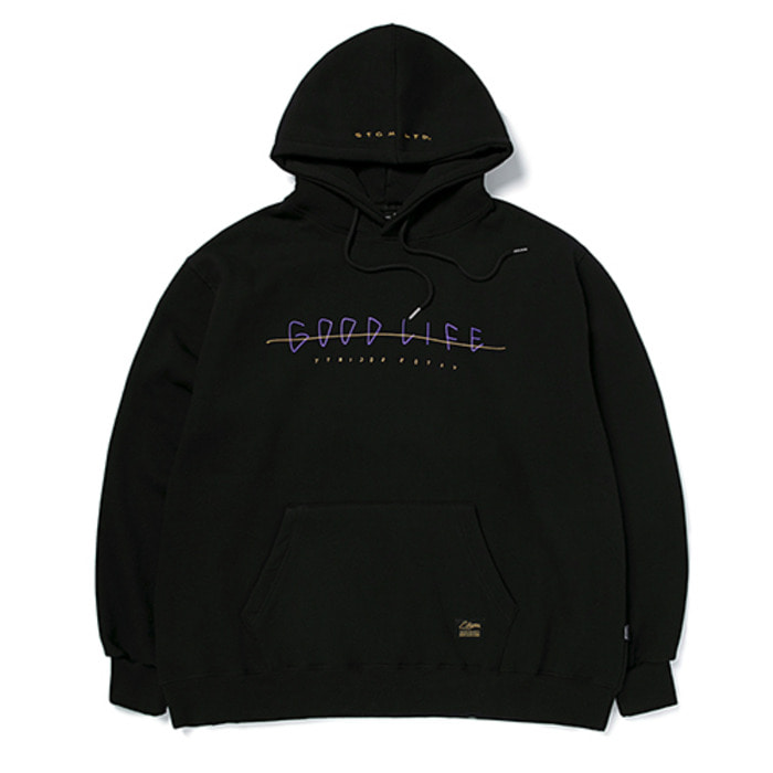 스티그마GOOD LIFE OVERSIZED HEAVY SWEAT HOODIE BLACK