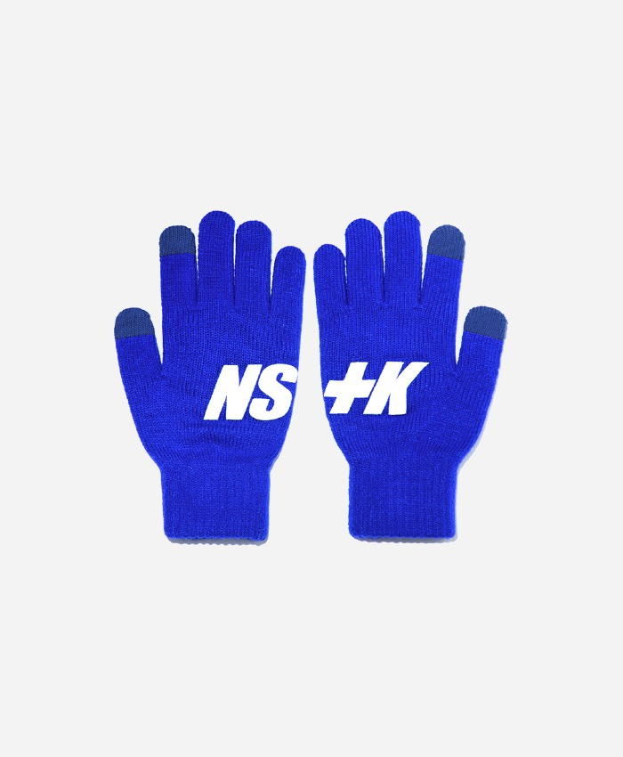 NASTY KICK네스티킥_[NK] NSTK BASIC LOGO GLOVES BLUE (NK18A102H)