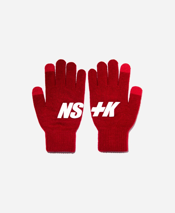 NASTY KICK네스티킥_[NK] NSTK BASIC LOGO GLOVES RED (NK18A102H)