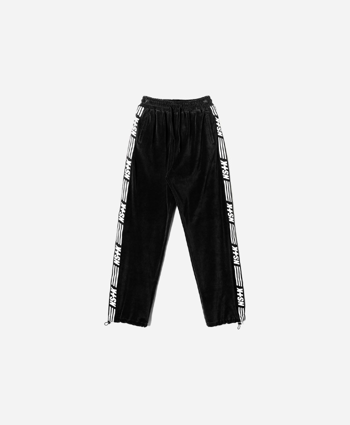 NASTY KICK네스티킥_[NK] NSTK VELOURS PANTS BLACK (NK18A067H)