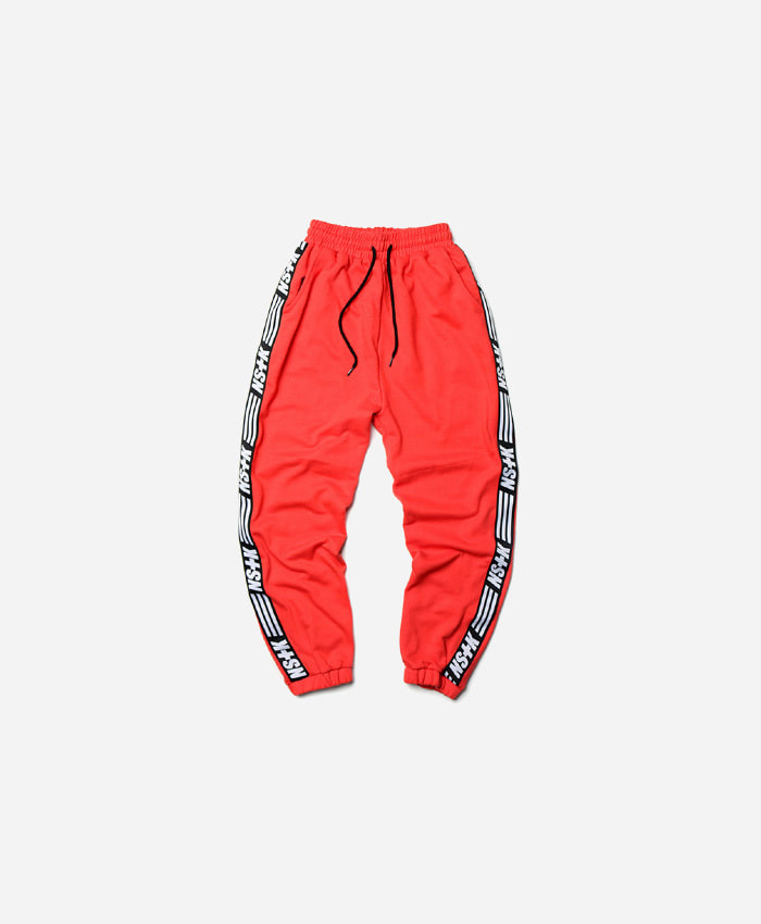 NASTY KICK네스티킥_[NK] NSTK LINE SWEATPANTS INFRA RED