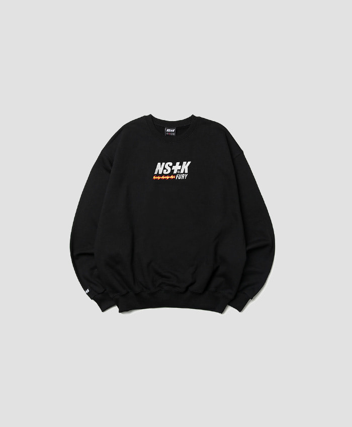 NASTY KICK네스티킥_NSTK LIKE FURY V2 SWEATSHIRTS BLACK