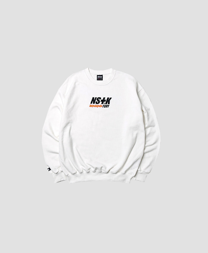 NASTY KICK네스티킥_NSTK LIKE FURY V2 SWEATSHIRTS WHITE