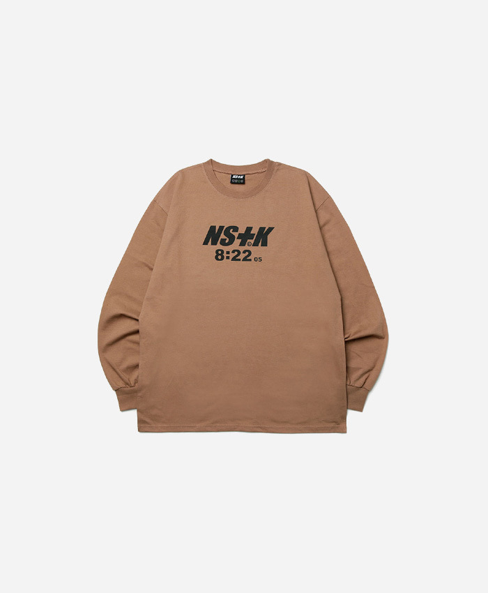 NASTY KICK네스티킥_NSTK 822 SPLIT LONGSLEEVE TEE BROWN