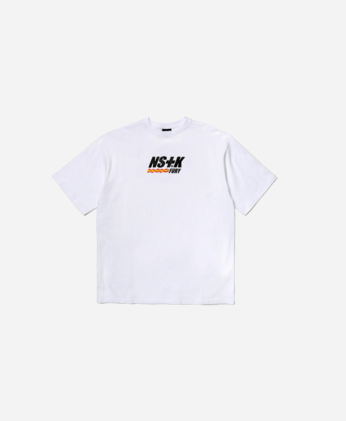 NASTY KICK네스티킥_[NK] LIKE FURY V2 TEE WHT